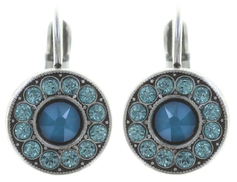 earring eurowire Spell on You light blue antique silver