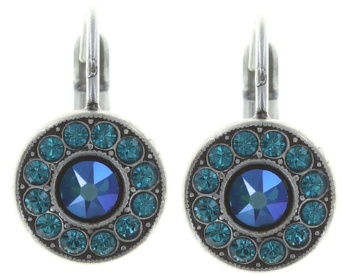 earring eurowire Spell on You blue/green antique silver