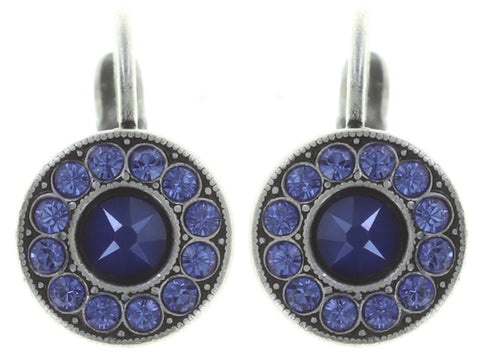 earring eurowire Spell on You blue antique silver