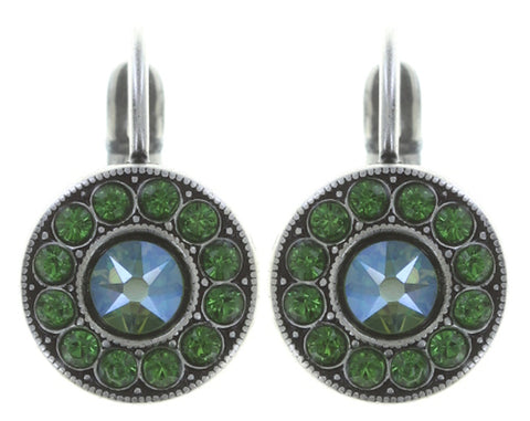 earring eurowire Spell on You green antique silver