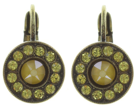 earring eurowire Spell on You yellow antique brass