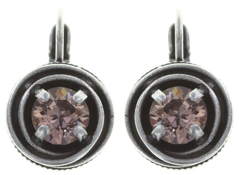 earring eurowire Cages beige/pink antique silver SS 29