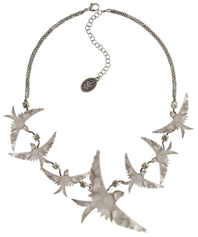 necklace The Sparrow silver antique silver size L,M