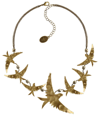 necklace The Sparrow Brass antique brass size L,M
