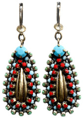 earring dangling Africanica multi antique brass