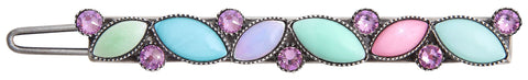 hairclip Dance with Navette pastel multi antique silver