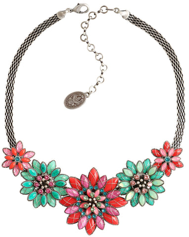 necklace Psychodahlia multi antique silver size XL,L,S