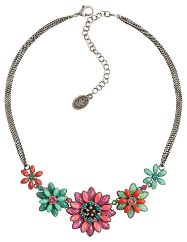 necklace Psychodahlia multi antique silver size L,S,XS