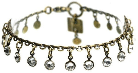 bracelet Waterfalls white antique brass