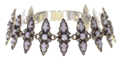 bracelet Striptease black/white Light antique brass