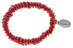 bracelet elastic Bead Snakes red antique silver