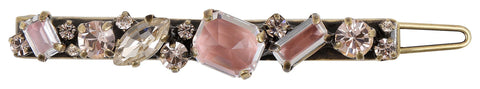 hairclip Mix the Rocks crystal blush antique brass