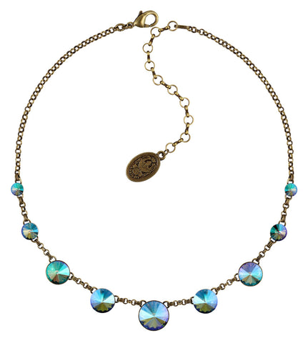 necklace Rivoli lila antique brass