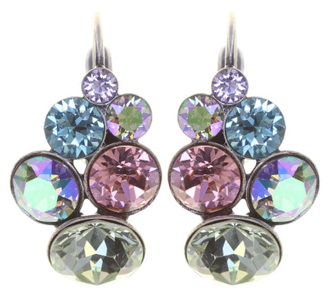 earring eurowire Petit Glamour pastel sorbet antique silver