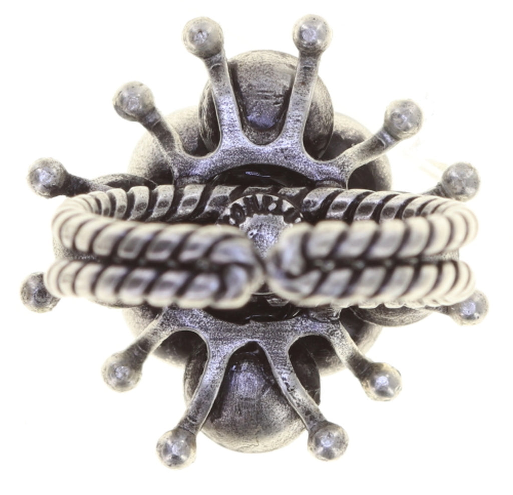 ring Petit Fleur de Bloom dragonfly antique silver