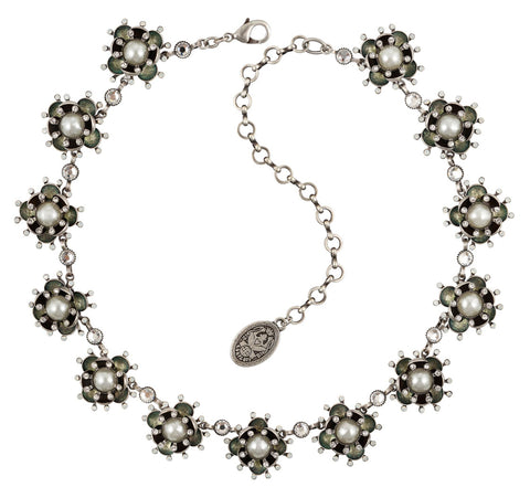 necklace collier Petit Fleur de Bloom dragonfly antique silver