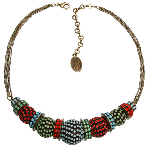 necklace Africanica multi antique brass