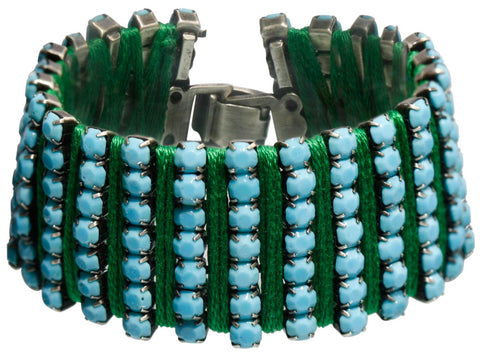bracelet Africanica blue antique silver
