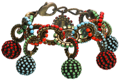 bracelet charming Africanica multi antique brass