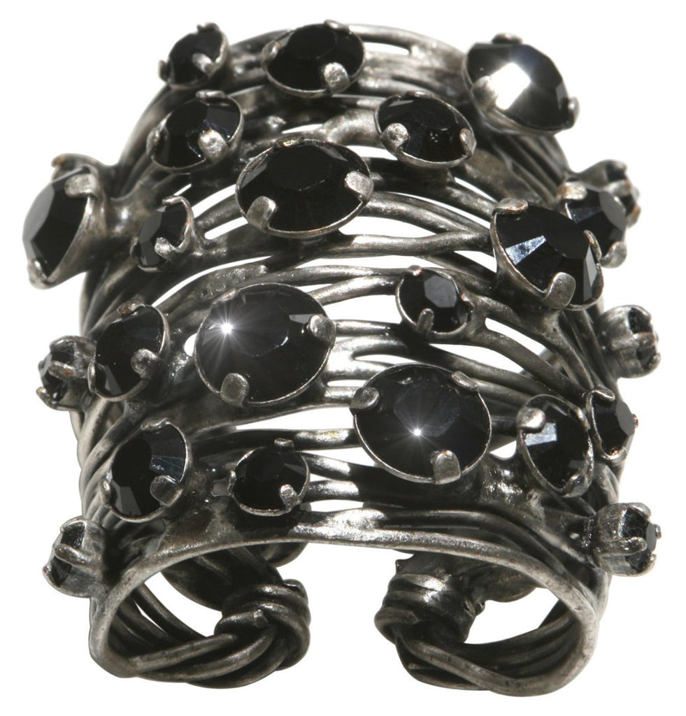 ring Cages black antique silver