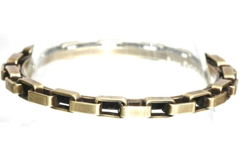 bracelet bangle Rock 'n' Glam brown antique brass 84 mm