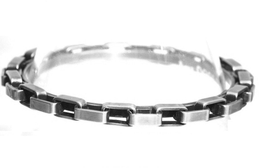 bracelet bangle Rock 'n' Glam white antique silver 84 mm