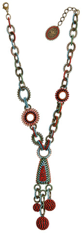 necklace collier Africanica multi antique brass