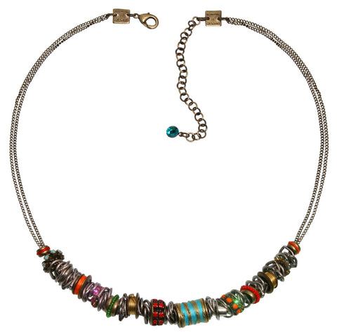 necklace Beduin multi antique brass