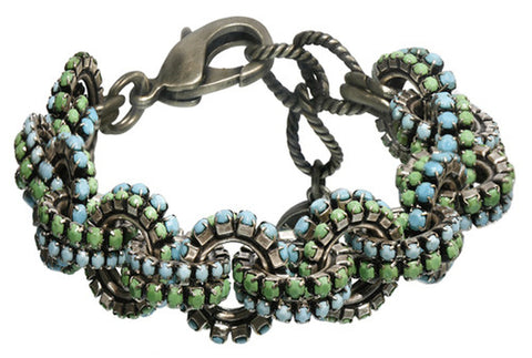 bracelet Africanica green/turquoise antique silver