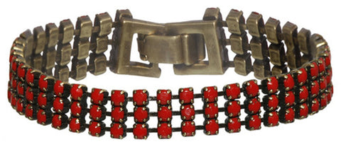 bracelet Africanica red antique brass