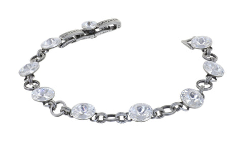 bracelet Rivoli white antique silver