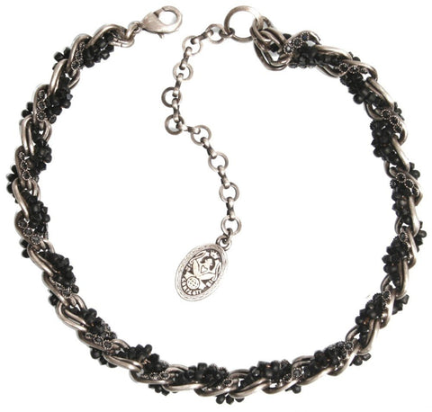 necklace Sinners and Saints black antique silver