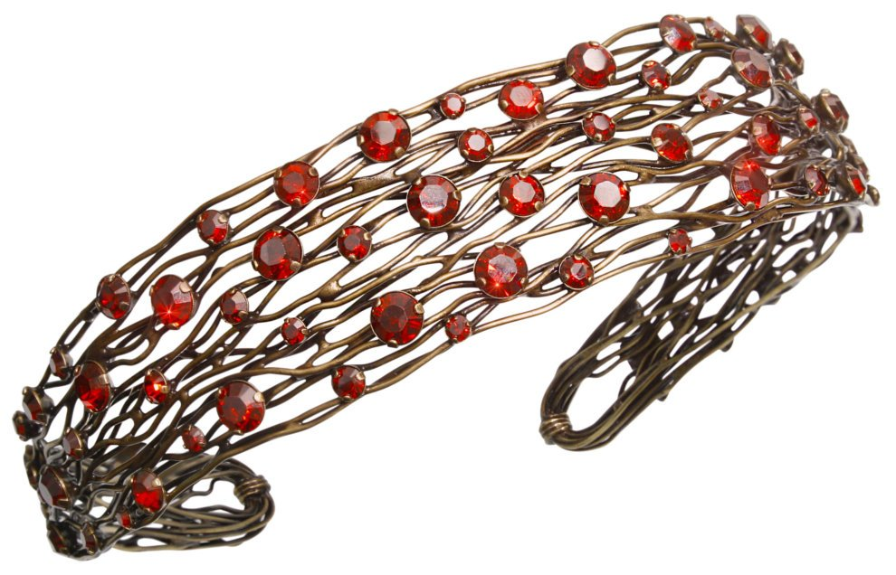 head band Cages red antique brass