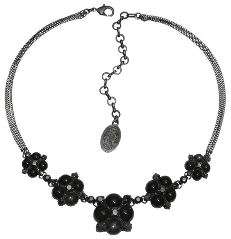 necklace Noir black gun metal