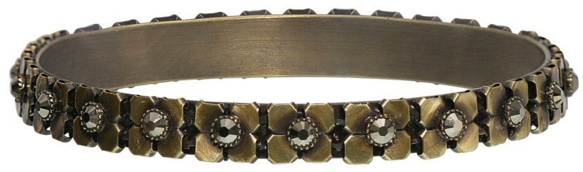 bracelet bangle Rock 'n' Glam brown antique brass 78.5 mm