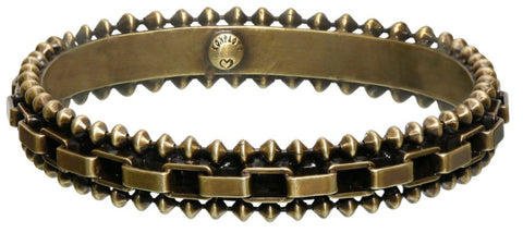 bracelet bangle Rock 'n' Glam brown antique brass 83 mm