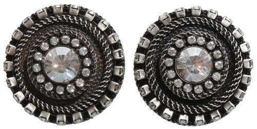 earring clip Rock 'n' Glam white antique silver