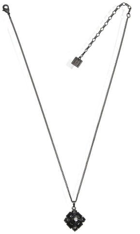 necklace pendant Noir black gun metal