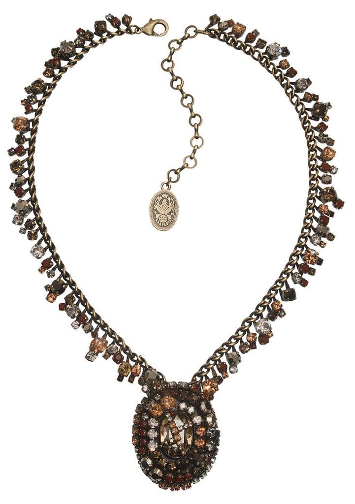 necklace Las Vegas brown antique brass