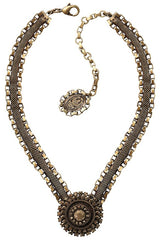 necklace Rock 'n' Glam brown antique brass
