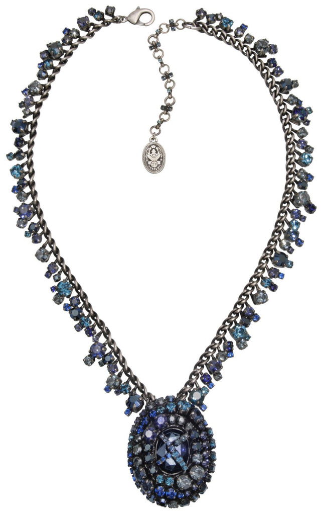 necklace Las Vegas blue antique silver