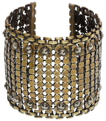 bracelet Rock 'n' Glam brown antique brass
