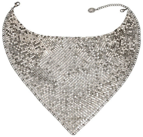 necklace collier Rock 'n' Glam white antique silver