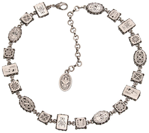 necklace Sinners and Saints white antique silver