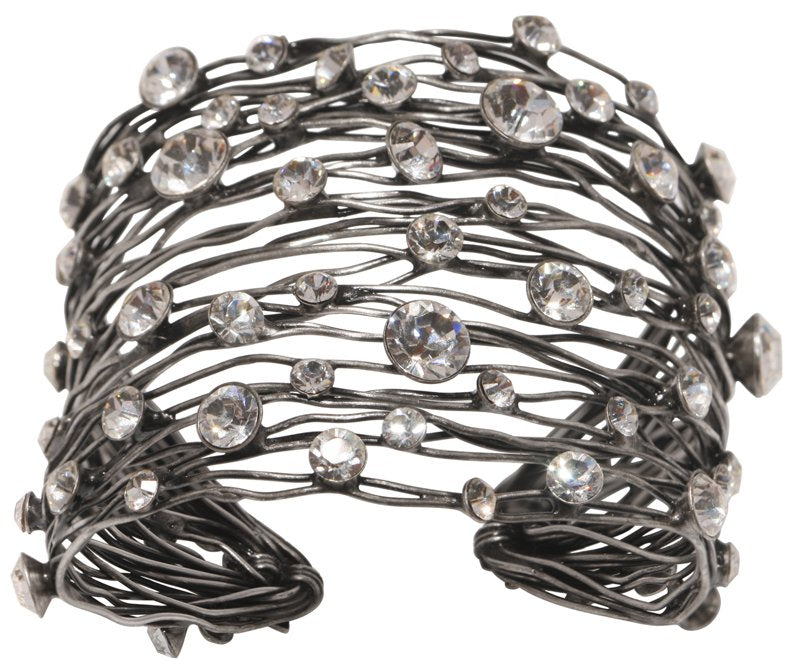 bracelet bangle Cages white antique silver