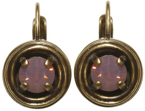 earring eurowire Cages pink antique brass SS 29