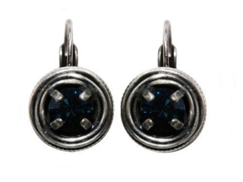 earring eurowire Cages blue antique silver