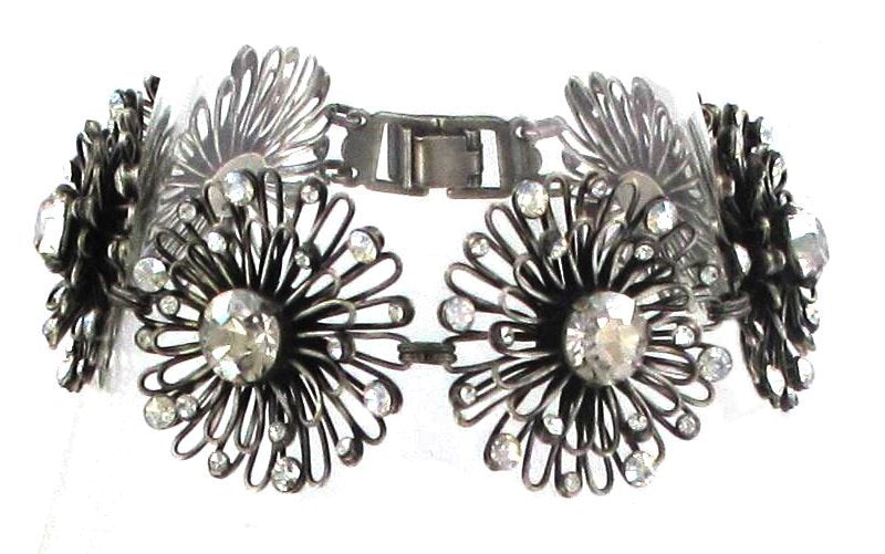 bracelet Distel white antique silver