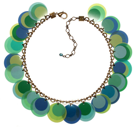 necklace Lollipop multi antique brass