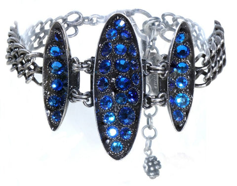 bracelet Back To The Future blue antique silver